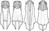 lady fashion wrap vest