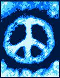 blue cloud with peace symbol