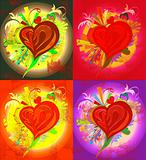 Picture of various colors of heart