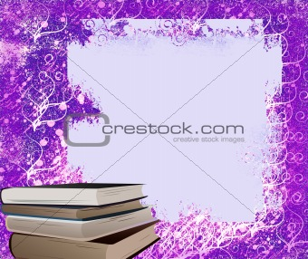 Frame and books, ideal for school congratulations