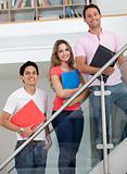 Group of students with folders