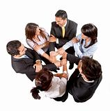 Business group together
