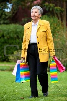 Senior shopping woman