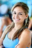 Gym woman portrait