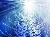 Sparkly christmas tree illustration