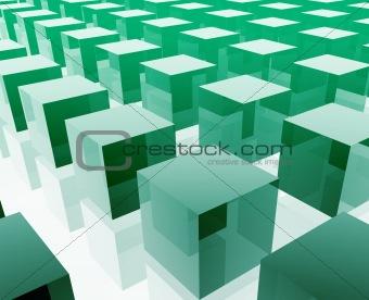 Cubes grid illustration
