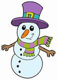 Cute cartoon snowman
