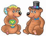 Pair of cute wedding bears
