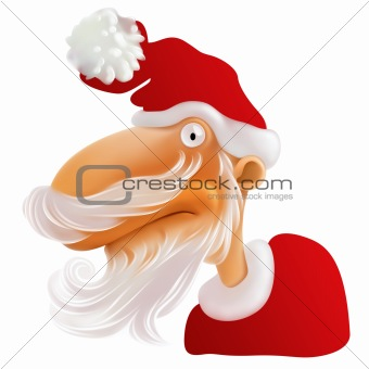 Santa Claus with white Beard