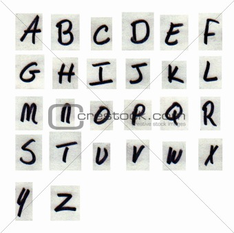 alphabet cutouts