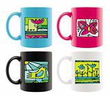Cups with summer drawings