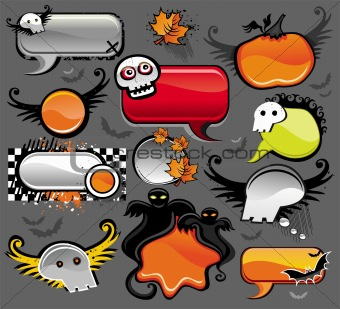 Halloween speech bubbles.