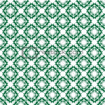 Green floral pattern vector