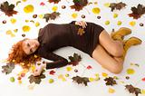 fall woman laying downn