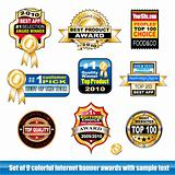Set of internet certification award banner