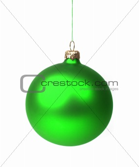 Green Christmas bauble