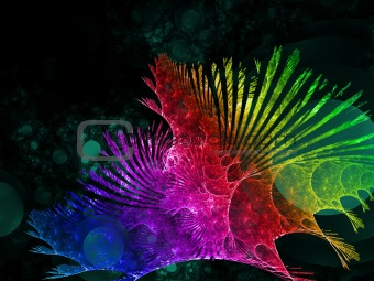 Abstract elegance background. Rainbow palette.