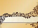 Vintage sepia banner, horizontal