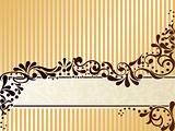 Vintage sepia banner, horizontal