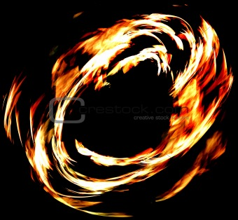 abstract fire ring fractal