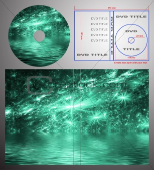 Abstract design template for dvd label and box-cover.
