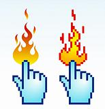 burning cursor