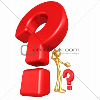 3D Character With Question