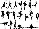Figure  skating silhouettes