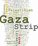 Gaza strip word cloud