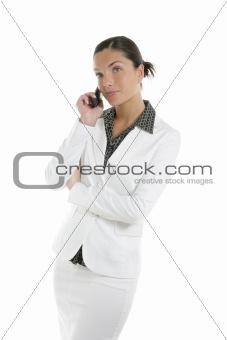 Beautiful businesswoman talking mobile phone