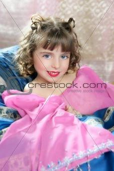 Beautiful little princess magic pink girl