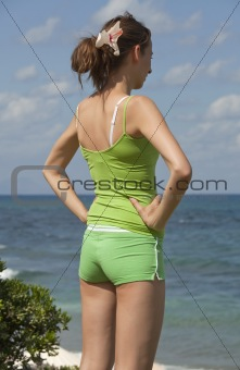 fitness woman on the beach