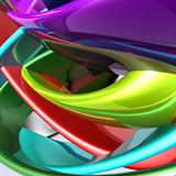 Colorful glossy abstract