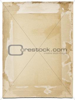 Grunge cardboard frame