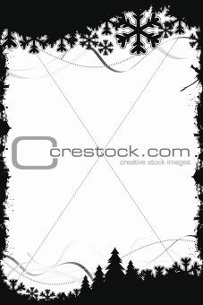 Black Christmas frame