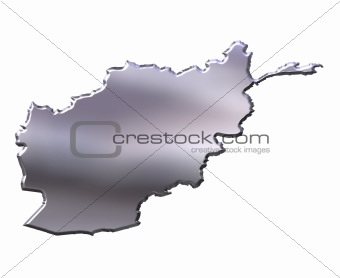 Afghanistan 3D Silver Map