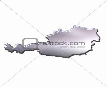 Austria 3D Silver Map