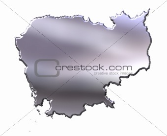 Cambodia 3D Silver Map