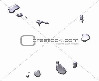 Cape Verde 3D Silver Map