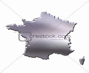 France 3D Silver Map