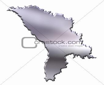 Moldova 3D Silver Map