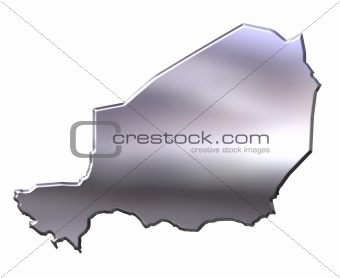 Niger 3D Silver Map