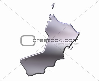 Oman 3D Silver Map