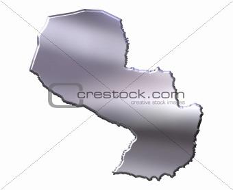 Paraguay 3D Silver Map