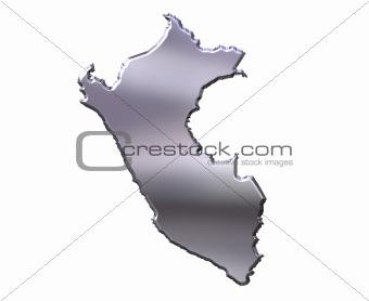 Peru 3D Silver Map