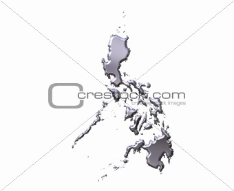 Philippines 3D Silver Map