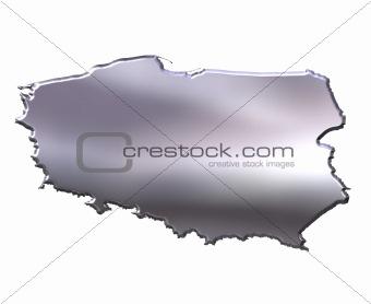 Poland 3D Silver Map