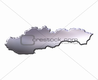 Slovakia 3D Silver Map