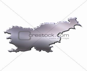 Slovenia 3D Silver Map