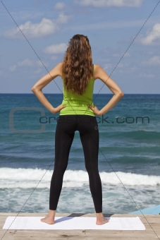 fitness woman at the beach